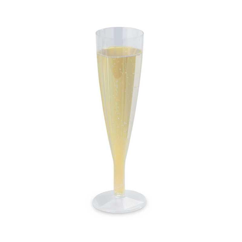 Flûtes à Champagne Plastique Jetables, traiteurs, cocktails