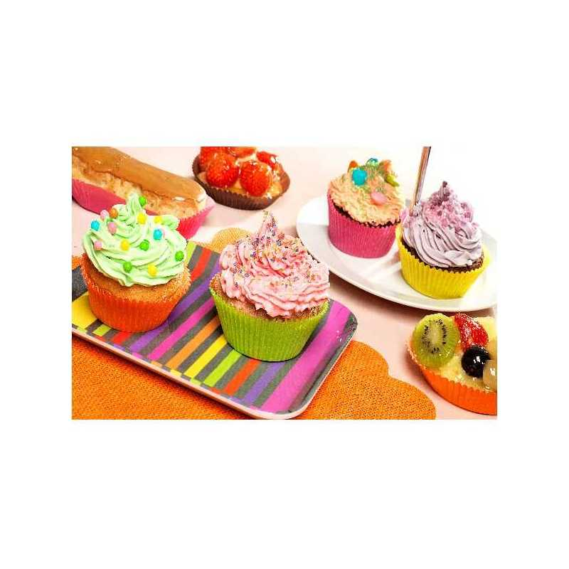 Caissette plissée couleurs Nordia pour Pâtisseries et Boulangeries