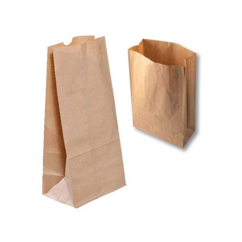 Sac SOS Kraft Brun, Doggy Bag pour Restauration Rapide, Snacks