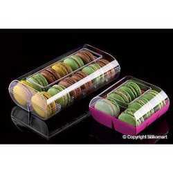 Boites à macaron macado plastique pour Boulangeries & Pâtisseries