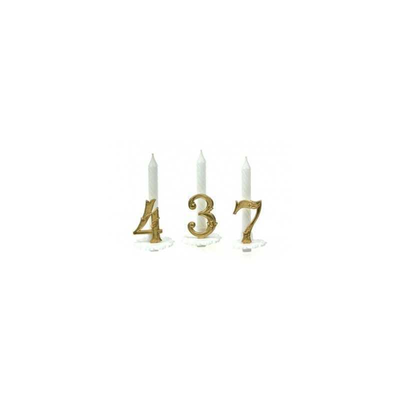 bougies baroque Or pour gâteaux d'anniversaire