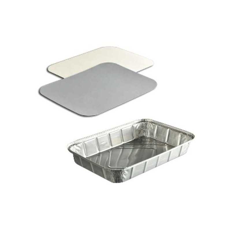 Plat à four en aluminium et opperculable pour Boulangeries, Snacks