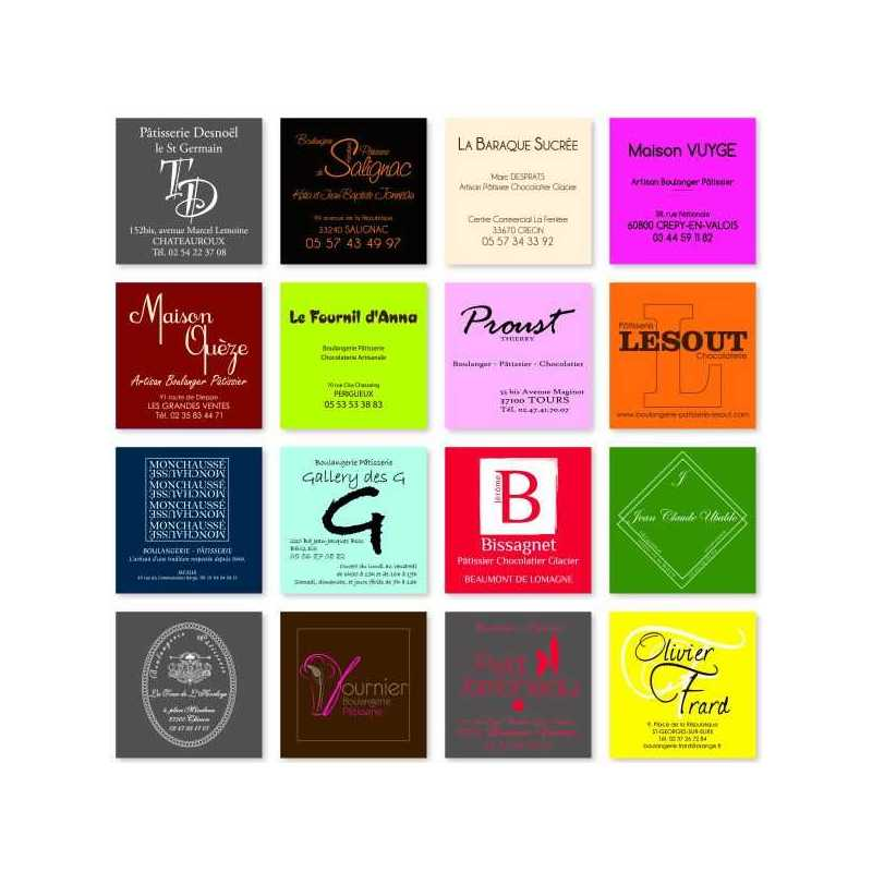 CARTEBOX BOITES PATISSIERES PERSONNALISES