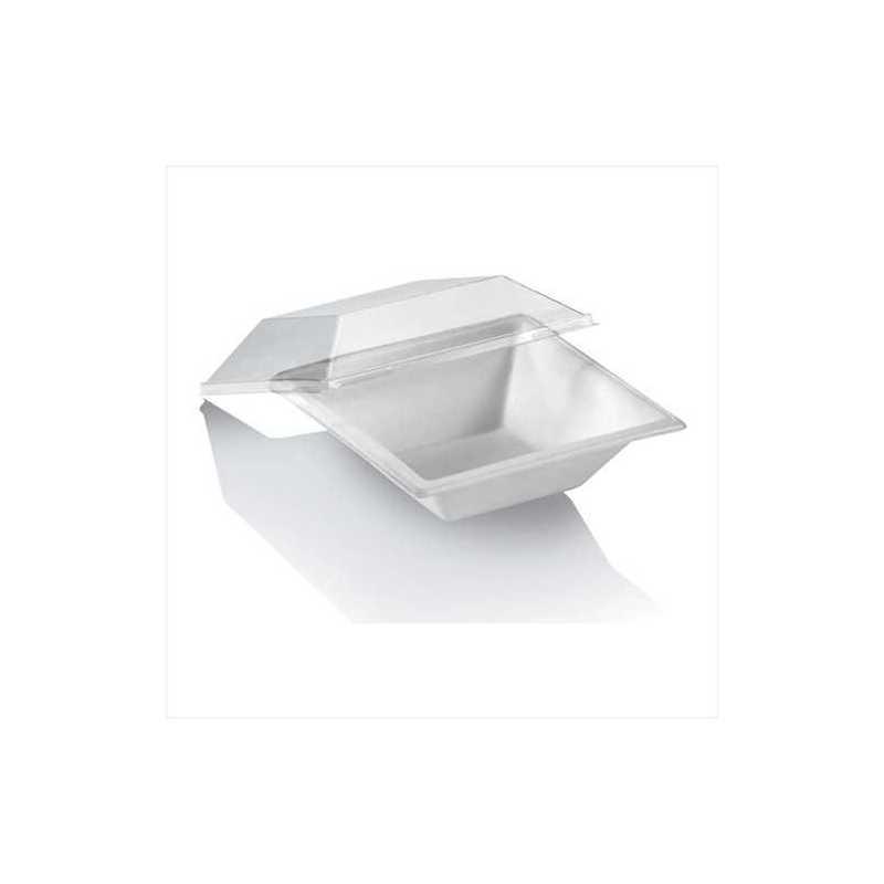 Bol plastique jetable Karo pour salades, emballage alimentaire écologique