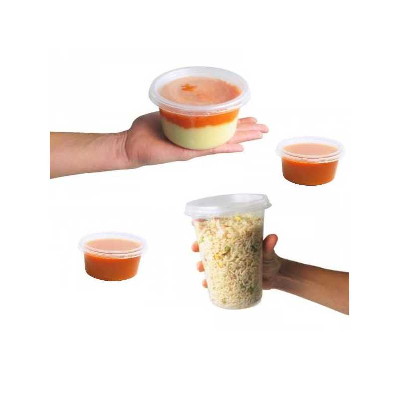 Pot plastique Tusipack micro onde, emballage salades chaudes