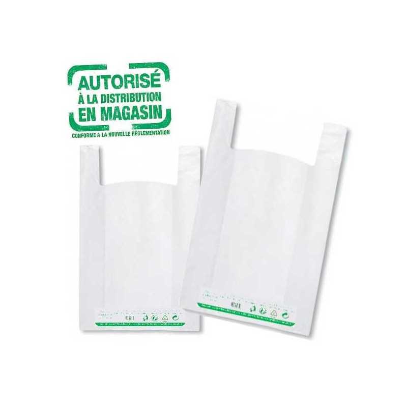 Sacs plastiques réutilisables 50 micros conformes à la réglementation, snacks