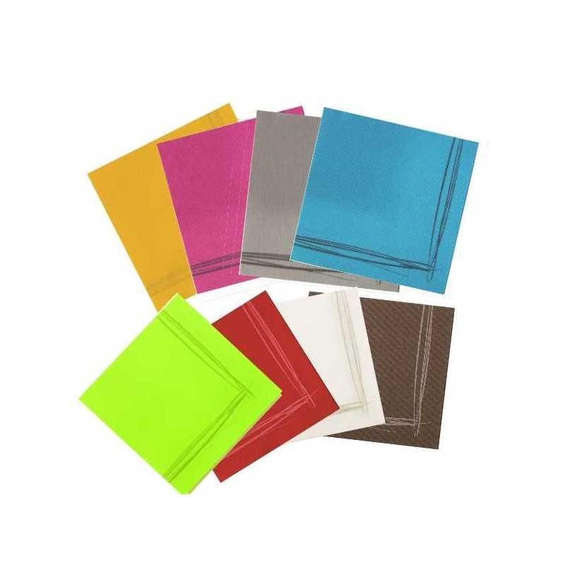 Serviettes papiers couleurs micro gaufrée pour boulangeries, snacking et pâtisseries