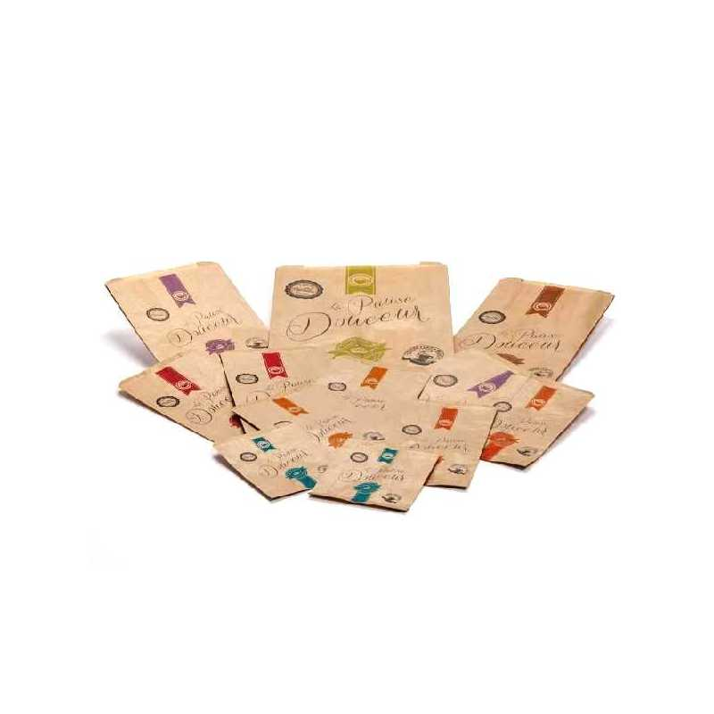 Sachet Kraft brun viennoiserie pour Boulangerie et Pâtisserie