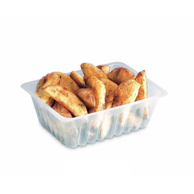 Barquette frites en plastique transparente Caissipack par Alphaform