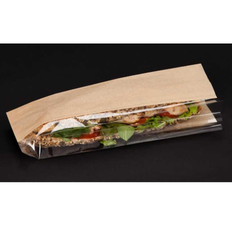 sac sandwich kraft a fenetre