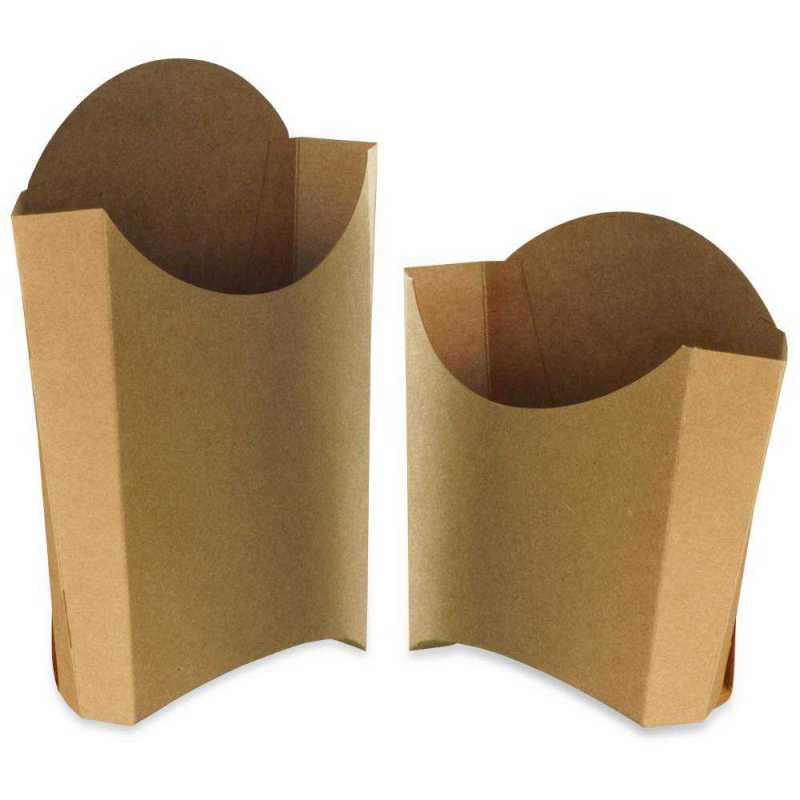 Boites frites carton, barquettes pour frites, cornets de frites snacks