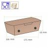 Emballage alimentaire en carton, vente à emporter, au meilleur prix, boulangerie, pâtisserie, snacks
