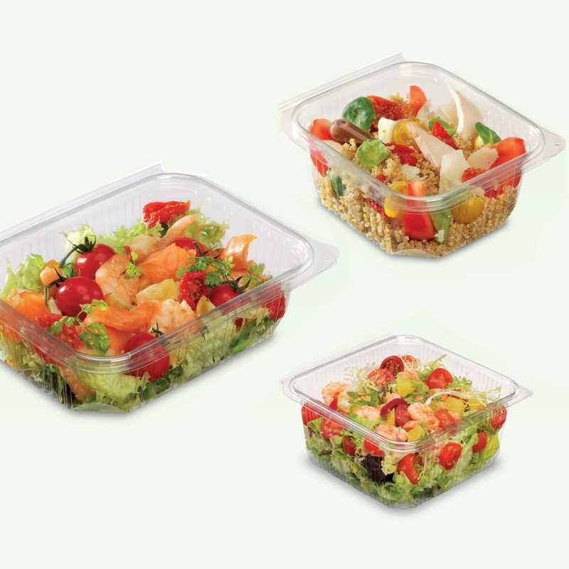 Barquette plastique salades Optipack, pour Boulangeries et Snacks