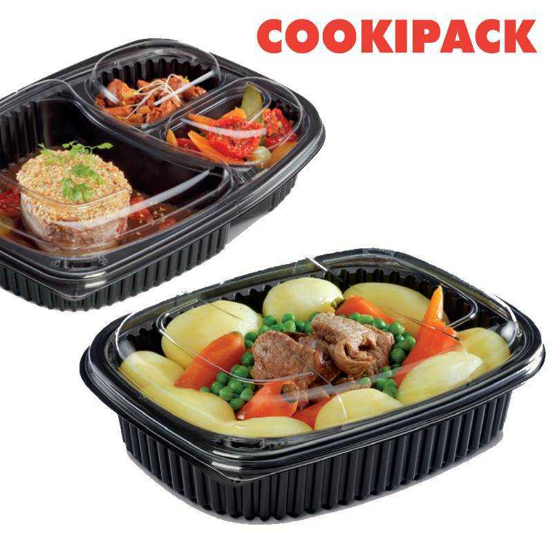 Barquette Micro-ondable COOKIPACK, emballage alimentaire pour snack et traiteur