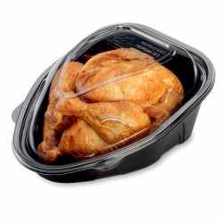 Emballage, barquette et couvercle micro-ondable pour vos poulets