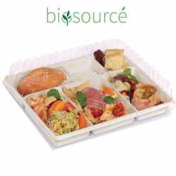 Plateau repas plastique biosourcé PLA, emballage écologique