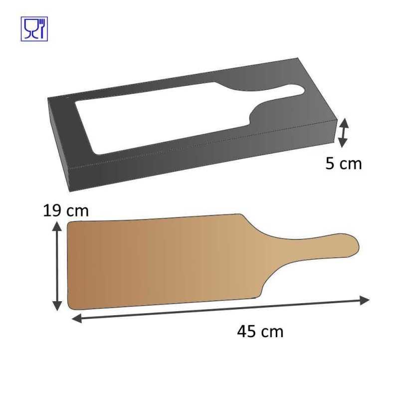 Plancha pour tapas en carton, emballage pour vos tapas