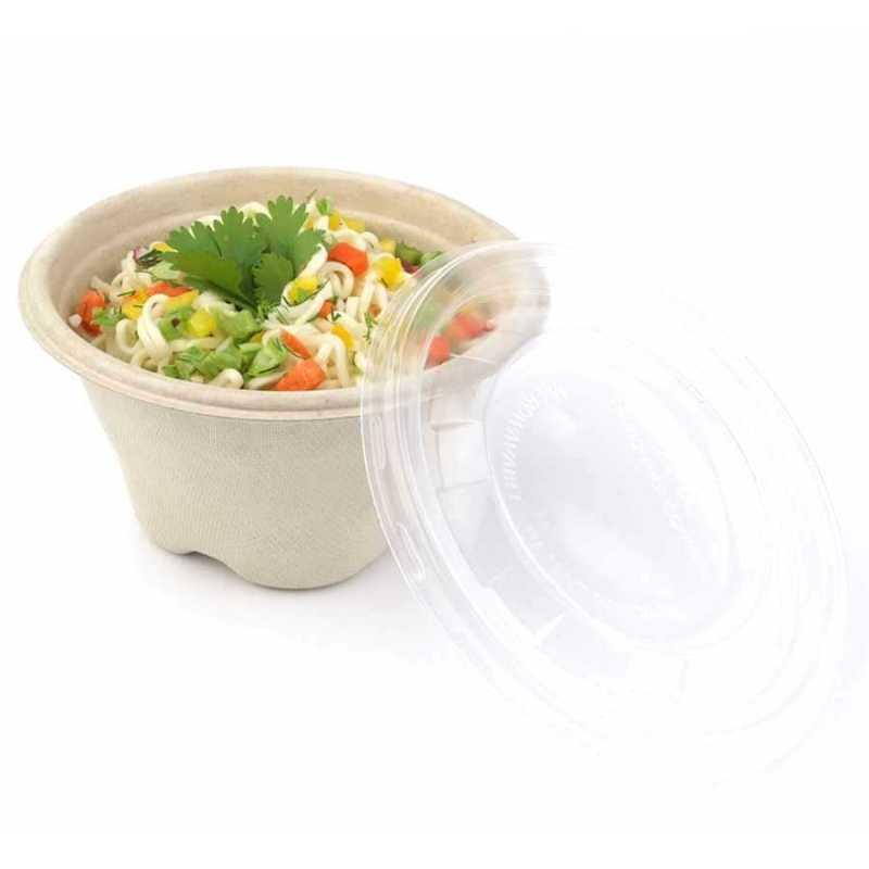 Bol à soupe jetable en canne à sucre biosourcé, emballage écologique