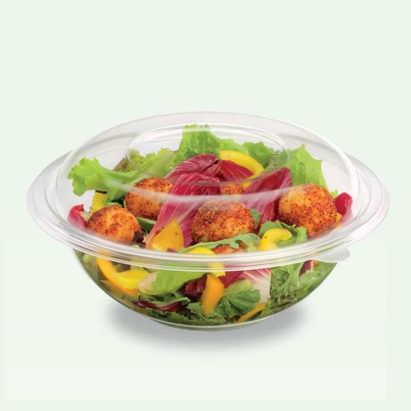 Saladier Cristal pour salade, un emballage pour la vente à emporter