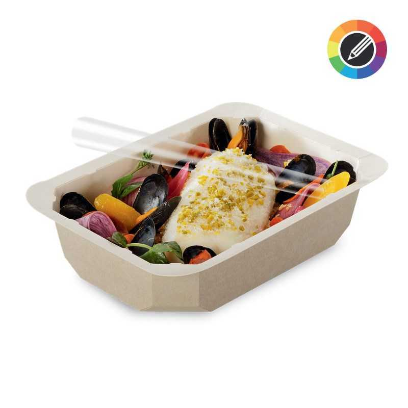 Barquette alimentaire thermoscellable biosourcée, emballage écologique