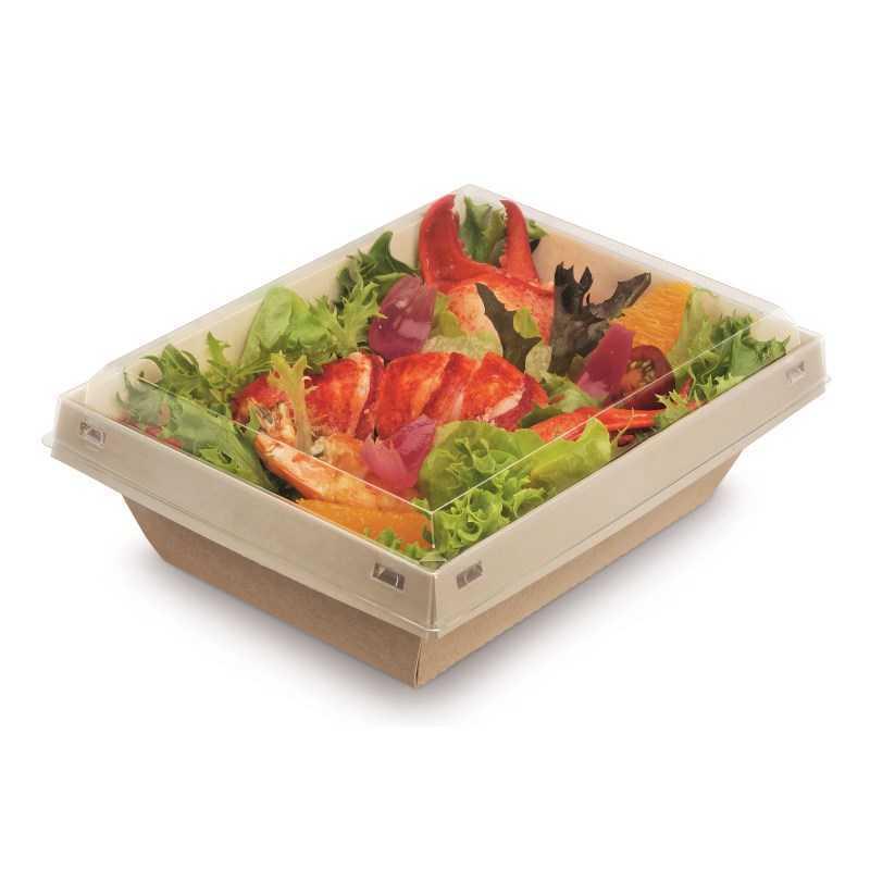 Boite à salade 100 % étanche, emballage alimentaire biodégradable