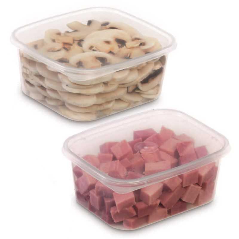 Boite plastique réutilisable Prestipack, emballage alimentaire