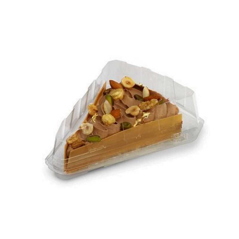 Boite triangulaire avec couvercle à charnière, l'emballage pour tartes