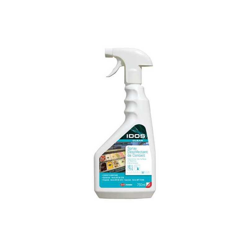 Spray fongicide, bactéricide et sporicide apte au contact alimentaire  IDOS CLEAR