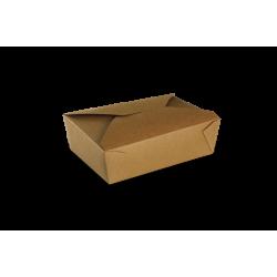 Boite pour repas à emporter Kraft brun à petits prix avec Papa France