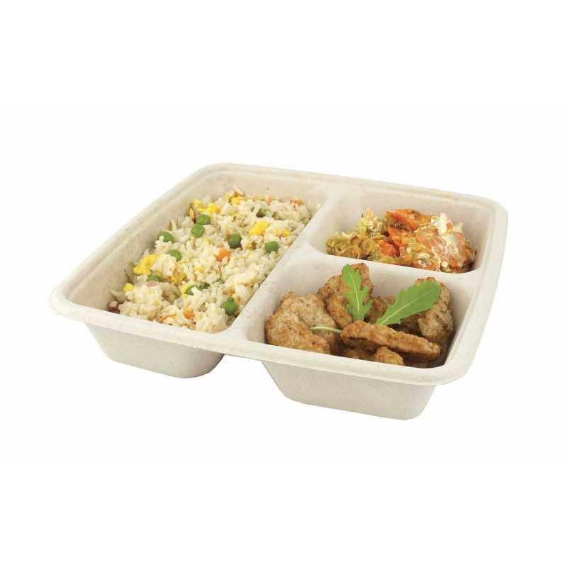 Barquette alimentaire pelliculée bio pour snacking et restauration