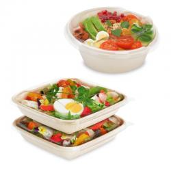 Boite salade en fibres végétales