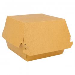Boite burger carton Kraft brun  - 1