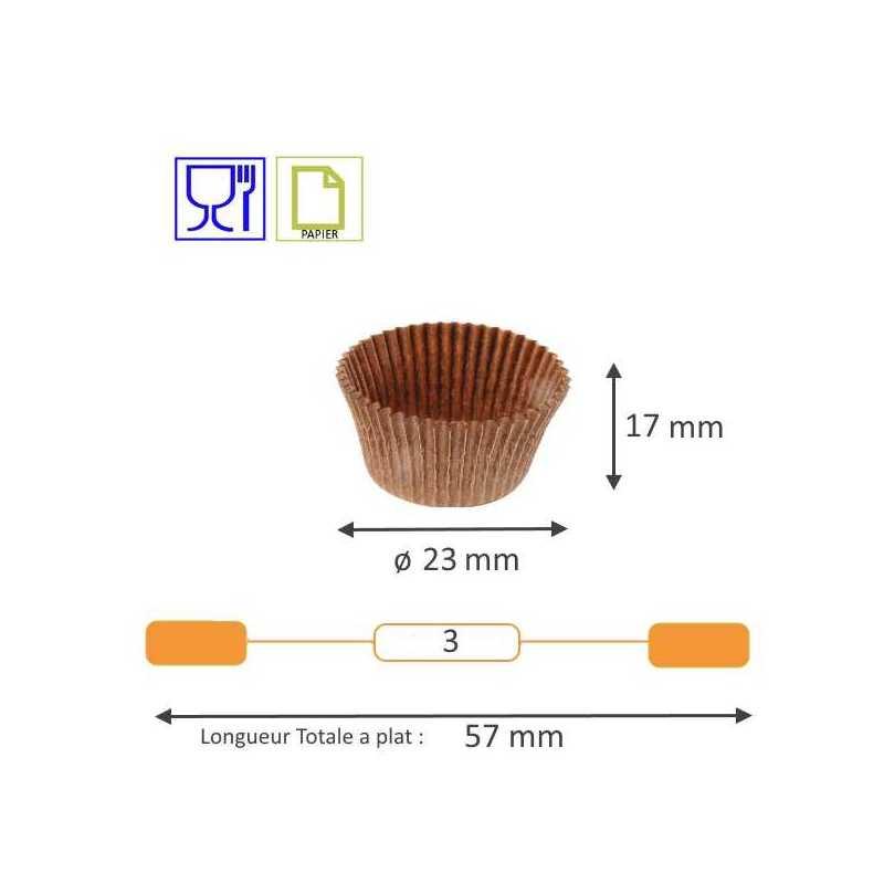 Caissette plissée brune Cupcake Benders pour Pâtissiers et Boulangers